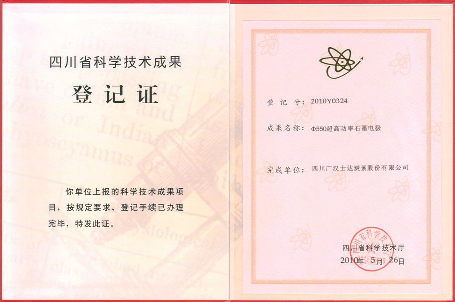 <span>四川省科学技术成功登记证</span>
